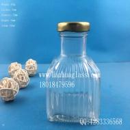 200ml square beverage glass bottle
