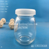 100ml pudding glass bottle