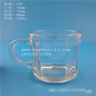 200ml hand glass juice cup